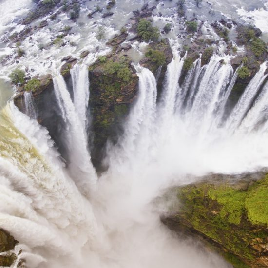 An Aerial View of Jog Falls in its might