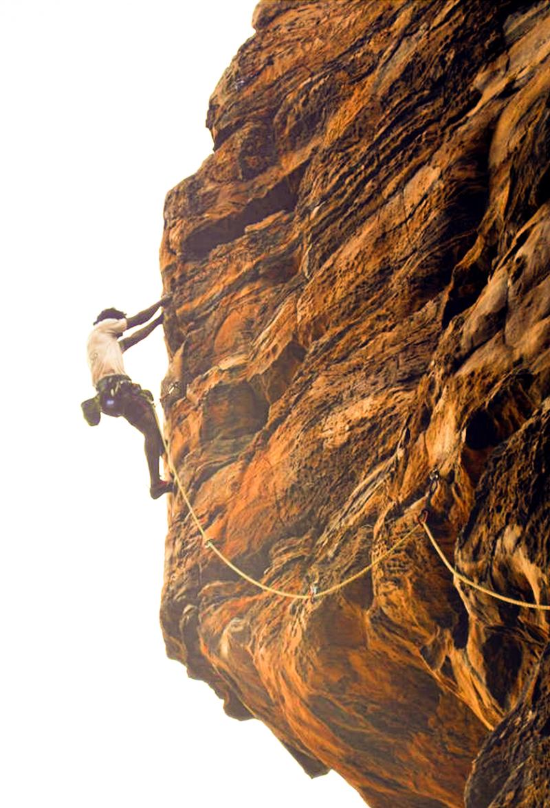 Badami Rock Climbing 1